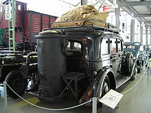 1941 Adler Diplomat and gasifier